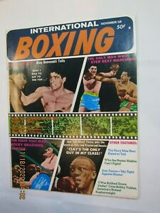 Vintage 1968 International Boxing Magazine Marciano, Graziano, Foster On Cover