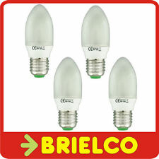 LAMPARA BOMBILLA BAJO CONSUMO FLUORESCENTE LUZ DIA VELA E27 11W 220V 4UDS BD4075