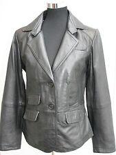 Hüftlange Damenjacken & -mäntel aus Leder ohne Muster für die Freizeit