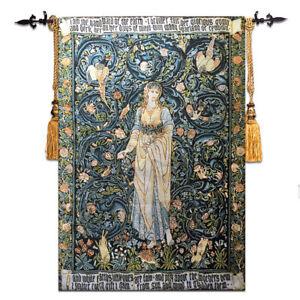 Belgian Tapestry Bedroom Mural William Morris Series of the Pomona Goddess Tree