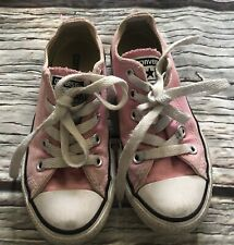 Girls Infant Size 10 Pink Converse Trainers