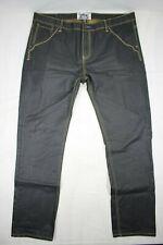 Decibel Men's Jeans Waxed Cotton Denim Style Black Size 42x32