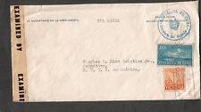 1944 WWII 30580 censor cover secretario la presidencia del Consejo Habana to NY