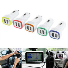 LED Dual USB Car Charger 2 Port Adapter Cigarette Socket Lighter For Cell Phone