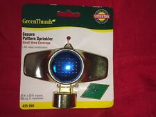 New Metal Green Thumb Square Pattern Spot Lawn Sprinkler Covers 30' x 30' 435990