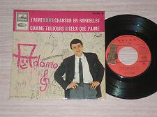 "SALVATORE ADAMO - J'AIME / CHANSON EN RONDELLES - 45 GIRI 7"" EP FRANCE"