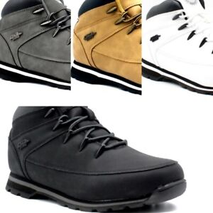 Mens Lightweight Hiker Lace Up Ankle Boots Casual Sports Outdoors Walking