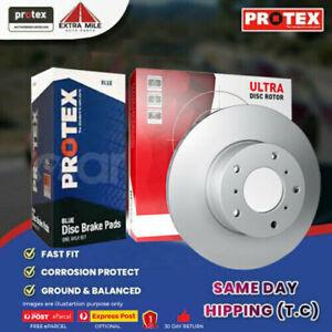Protex Front Disc Brake Rotors&Blue Pads for Ford Capri SA SC SE Laser KE