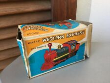 VINTAGE#Wind-Up  Western Express Toy Train  Made In Japan#BOXED