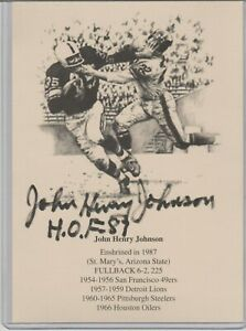 John Henry Johnson Autographed 5x7 Collectible with Certificate of Authenticity