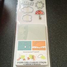 Sizzix Hello Rainbow Set 5 muore 2 embossing folders Ombrello SOLE NUVOLE