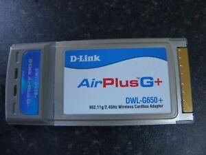 D Link Air Plus G+ DWL G650+ 802.11g/2.4Ghz Wirelrss Cardbus Adaptor Laptop PC