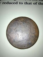 1812 1c Classic Head Large Cent  Fr-Ag Grade
