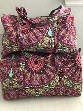 Vera Bradley RESORT MEDALLION Large and Small Duffel Set Travel Set NEW w TAGS