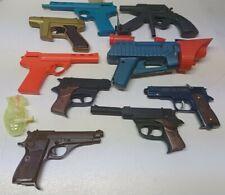 10 Vtg Plastic Toy Guns Dart Cap Water Remco Ideal Star Trek Lost in Space more