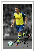 MESUT OZIL ARSENAL SIGNED AUTOGRAPH PHOTO PRINT 2014/15 SOCCER