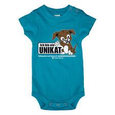 Baby Body Unikat türkis weiß Größe 56 62 Babybody Baumwolle Unterwäsche Kurzarm