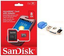SanDisk 8GB MicroSD Micro SDHC TF Class 4 Memory Card for HTC One M8 nexus 9 Tab