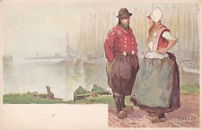 AS: H. Cassiers, Sailboats On The Background, Man & Woman Talking, Marken, Nethe