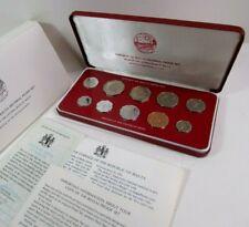 1979 Malta Proof Coin Set of 10 Complete - Republic of Malta Decimal