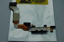 Iphone 4S Nero Porta di Ricarica USB Connettore Dock Cavo Flex con Microfono