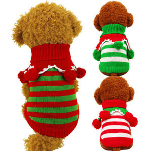 Pet Dog Hoodie Sweater Jumper Coat Warm Dogs Clothes Puppy Christmas Costume