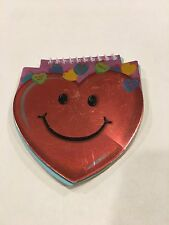 Note Pad Red Smiley Face Multi Color Paper 49 pages