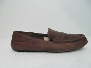 UGG Australia Hunley Moccasin Brown Leather Casual Shoes Size Men's 13