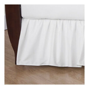 American Baby Company 100% Natural Cotton Percale Ruffled Crib Skirt, White