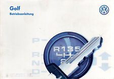 Betriebsanleitung VW GOLF Handbuch Bordbuch  Ausgabe 1996