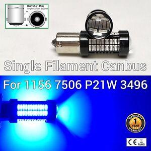 Rear Signal Light 1156 BA15S 7506 3497 P21W 108 SMD Blue LED Bulb M1 M