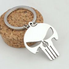 Skull Keychain Stainless steel Key Chain Modern Cartoon Super Heroes Toys Gift !