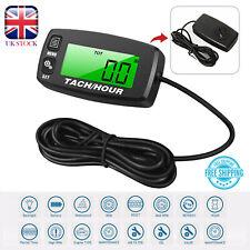 Waterproof Tachometer Digital RPM Hour Tach Meter LCD Bike Motorcycle Marine