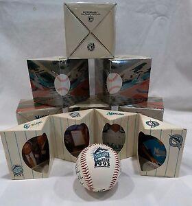 Inaugural Florida Marlins 1993 Team Baseball w/ Facsimile Signatures-SEALED