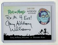Cryptozoic Rick and Morty 2 Gary Anthony Williams (Alien) AUTOGRAPH #'d /200
