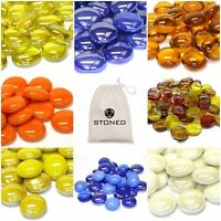 Decorative Round Glass Pebbles Nuggets Beads Wedding Table Vases Events STONED®