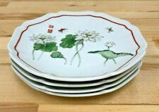 Lotus The Toscany Collection Japan Porcelain Salad Dessert Plates - Set of 4
