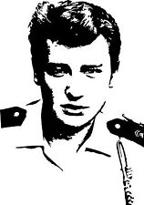 Sticker Johnny Hallyday 119 - 57x81 cm