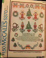 Vintage 1976 Unused A Sample of Christmas Transfers Pattern~McCalls 5370