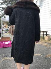 Lamb Mink Long Coat With Hat