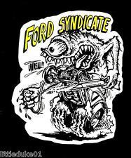 "FORD ""SYNDICATE"" Sticker Decal RAT FINK Car Surfboard PANEL VAN UTE TRUCK"