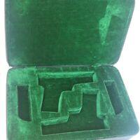 VINTAGE ADG Sports Double Pistol & Double Magazine Black Case in emerald green