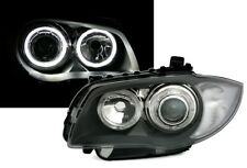 Angel Eyes Scheinwerfer mit weiße LED Ringe für 1er BMW E87 E81 E82 E88 Grau