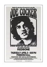 Joe Cocker 1972 Louisville Concert Poster