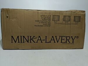 Minka Lavery 6733-1-613 3-Light Bath Vanity Light w/ Etched Shade