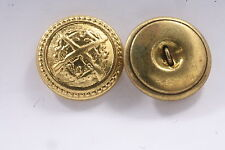 Hungary Hungarian Army Button Replacement 2.2cm Gold Coat Recessed Shank uniform