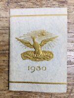 Livre miniature 1930 rare Almanach minuscule en relief gaufré