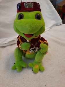 "Gemmy Frogz Rock It Rap It Ribbit Hip Hop Frog  Dancing And Sings ""Yeah"""