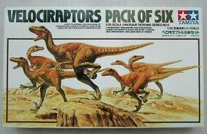 Velociraptors Pack of Six 1/35 Scale Dinosaur Diorama Series NO.5 Tamiya Neuf !