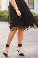 Regular Size Polka Dot Knee-Length Skirts for Women